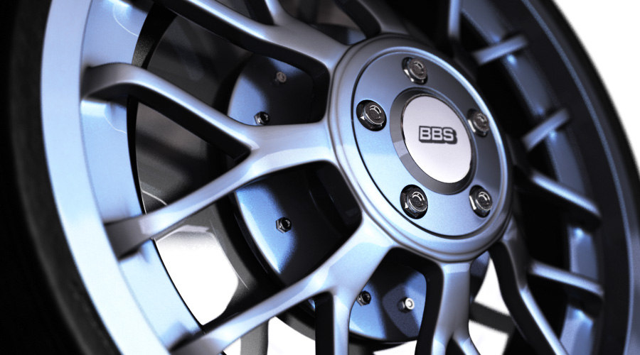 3d bbs wheel car