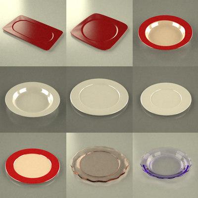 dish plate 3d model