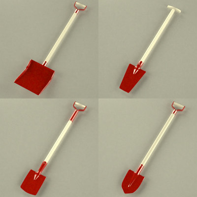 3ds tool shovel