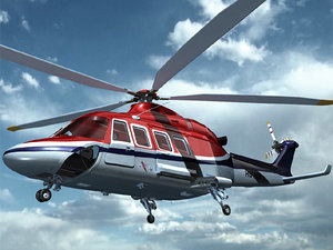 aw139 helicopter aircraft 3d model