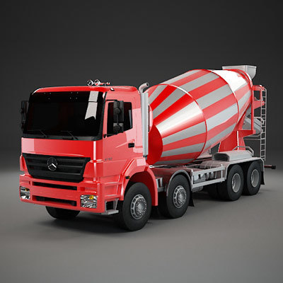 cement mixer axor 3d model