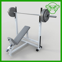 incline bench with weight
