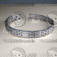 stainless steel bracelet 3d 3ds