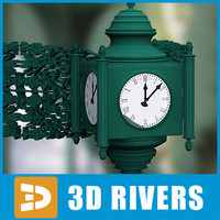 Carved angle clock 01 by 3DRivers
