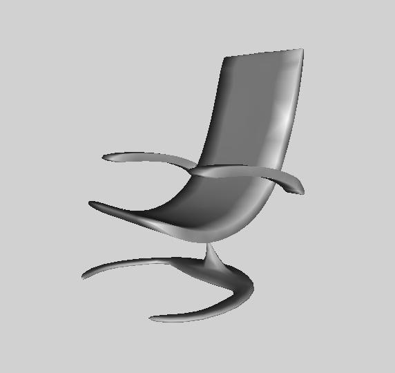 free chair awesome 3d model