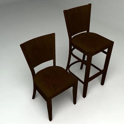 chairs bergamo ws 3d 3ds