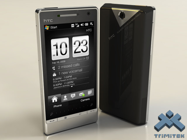 htc touch diamond 2 3d model