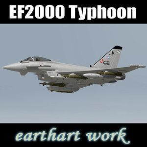 eurofighter typhoon spanish 3d model