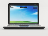 3d model hp pavilion dv2000