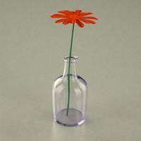 flower flowerpot 3d model