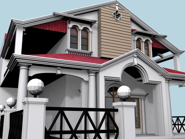 home houses 3d max