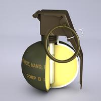 3ds m67 frag grenade