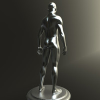 modern sculpture person 3d model