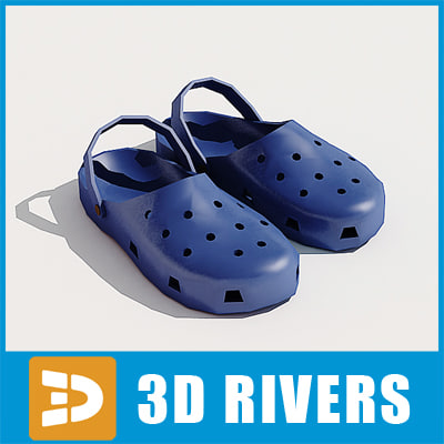 3d model crocs shoes fashion