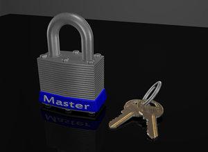 master lock 3d max