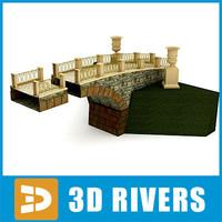 stone medieval bridge 3d 3ds