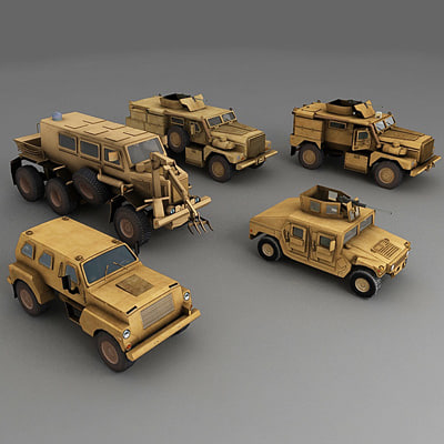 cougar 4x4 6x6 3d model