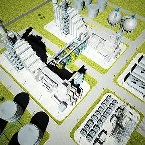 3d natural gas power plant model
