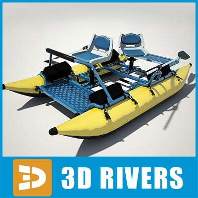 3dsmax inflatable fishing pontoon boat for Fishing pontoon boat reviews