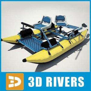 3dsmax inflatable fishing pontoon boat