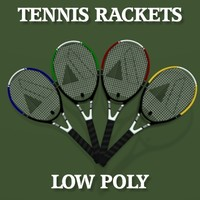 Low Poly Tennis Rackets