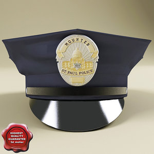 police hat 3d model