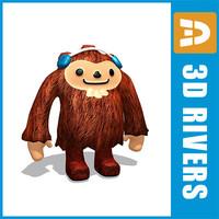 quatchi mascot vancouver olympic 3d model