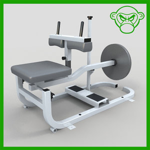 seated calf 3d 3ds