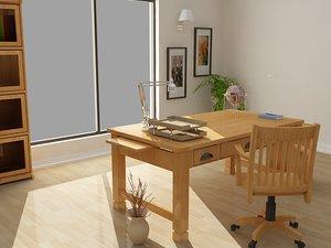 3d model sedona furniture set room table