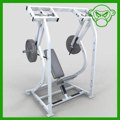 3d shoulder press model
