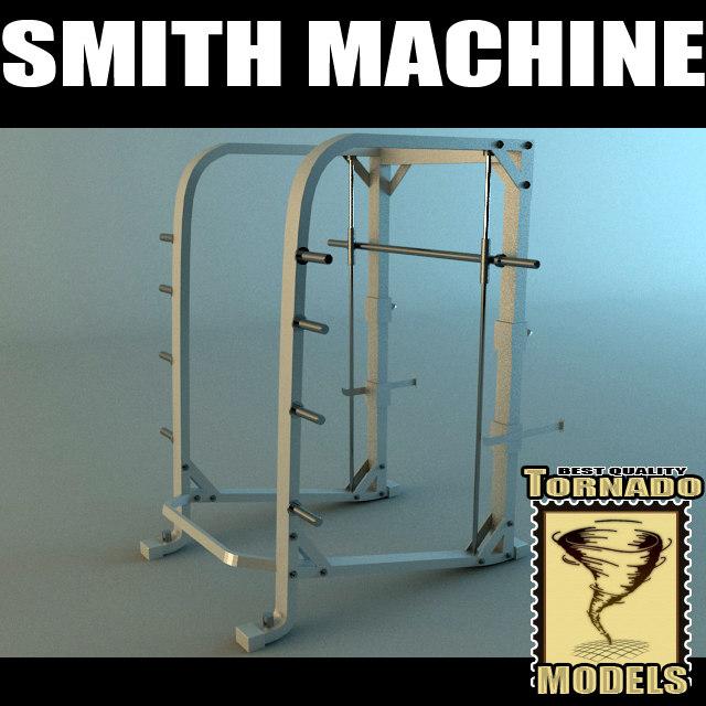 smith machine 3d max