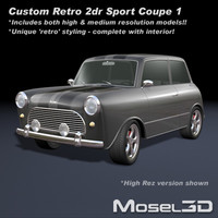 sport coupe retro 3d max