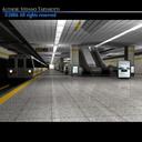 3d subway station train