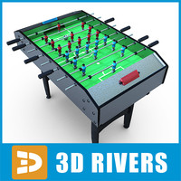 3d model table football soccer