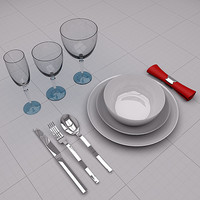 3d tableware champagne wine
