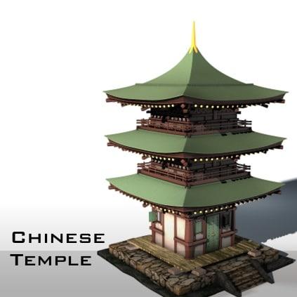 c4d asia temple