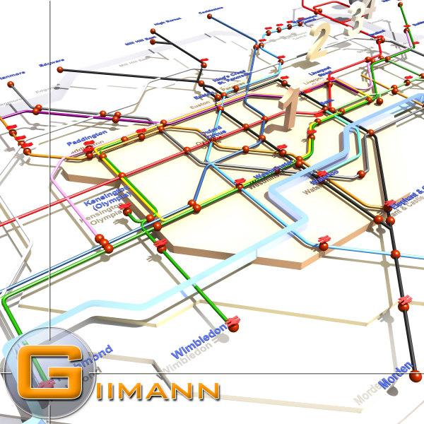 london underground 3d model