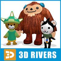 3ds max sumi mascots vancouver 2010