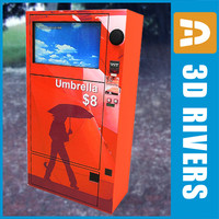 3d model of umbrella vending machine