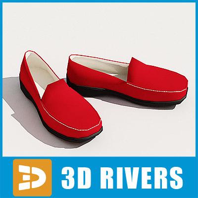 women boat shoes 3d 3ds