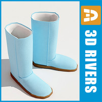 3ds max shoes ugg boots