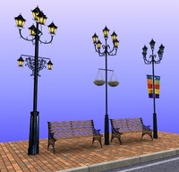street lamp chair 3d max
