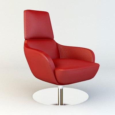 Natuzzi Chair 2236 3d Model