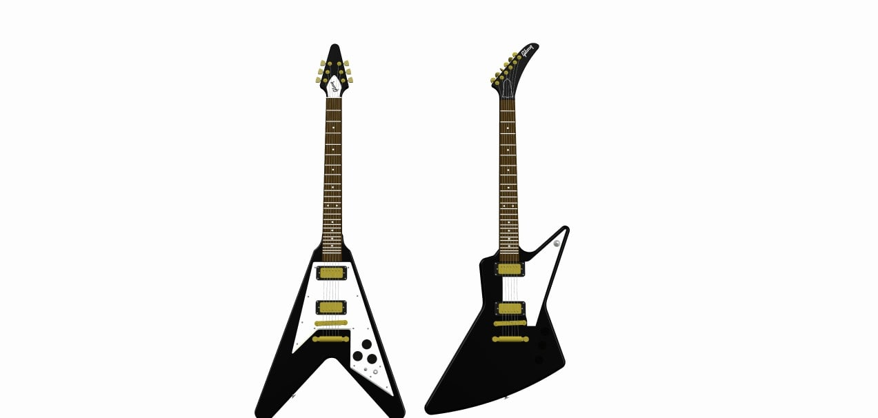 3ds gibson explorer flying v