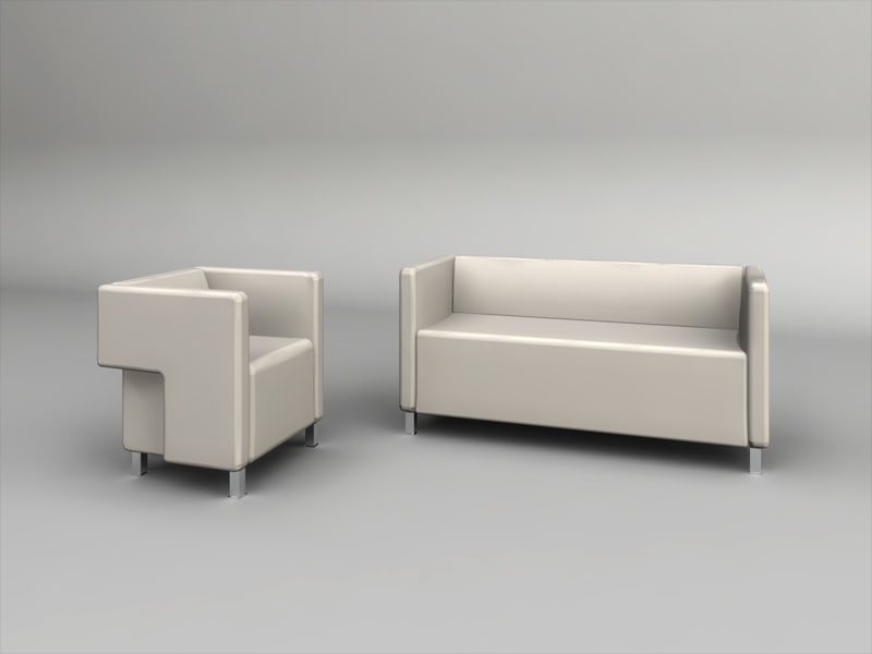 3d 2 seater sofa matching model