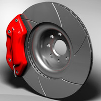 6 piston brake kit 3d model