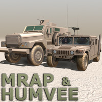 cougar desert humvee 3d model