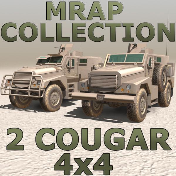 3d cougar 4x4 model