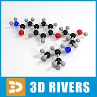 3d atenolol molecule structure