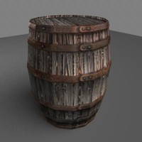 barrel resolution old 3d model